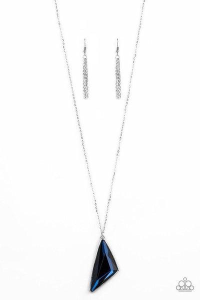 Paparazzi Necklace ~ Ultra Sharp - Blue