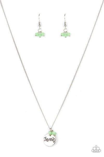 Paparazzi Necklace ~ Warm My Heart - Green