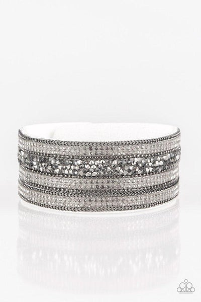 Paparazzi Bracelet ~ Really Rock Band - White