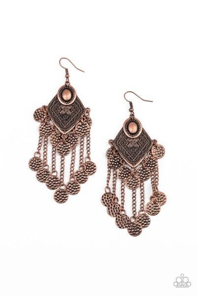 Paparazzi Earring ~ Garden Explorer - Copper