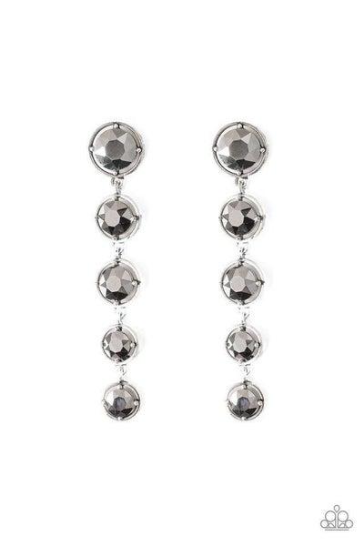 Paparazzi Earring ~ Drippin In Starlight - Silver