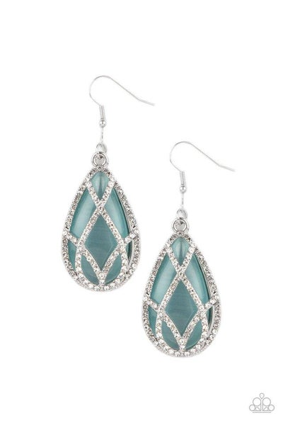 Paparazzi Earring PREORDER ~ Crawling With Couture - Blue