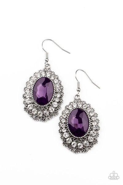 Paparazzi Earring ~ Glacial Gardens - Purple