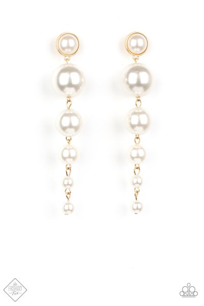 Paparazzi Earrings ~ Living a WEALTHY Lifestyle -Fashion Fix Oct2020 - Gold