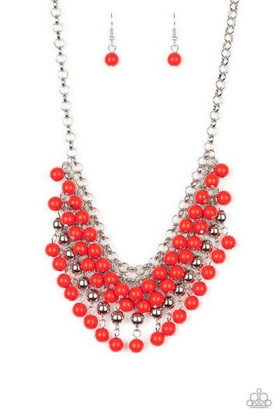 Paparazzi Necklace ~ Jubilant Jingle - Red