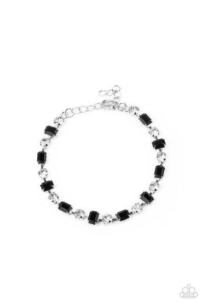 Paparazzi Bracelet ~ Out In Full FIERCE - Black