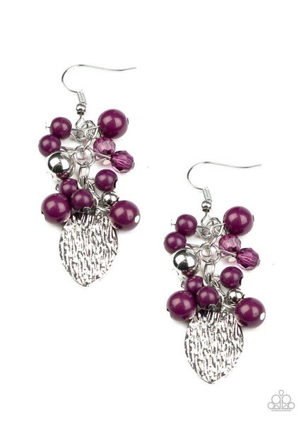 Paparazzi Earring ~ Fruity Finesse - Purple