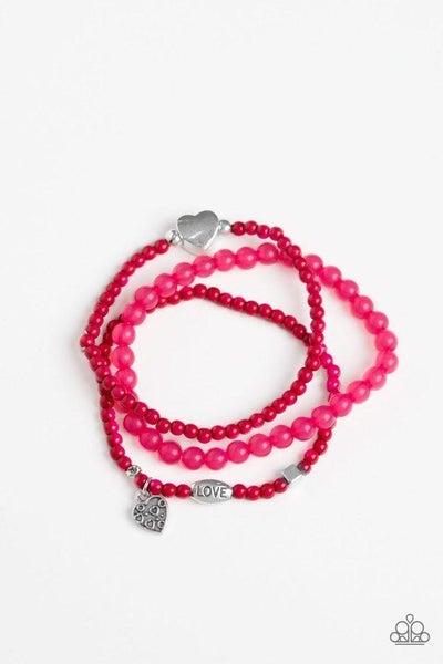 Paparazzi Bracelet ~ Really Romantic - Pink