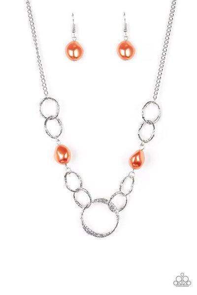 Paparazzi Necklace ~ Lead Role - Orange