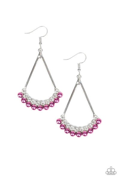 Paparazzi Earring ~ Top to Bottom - Purple