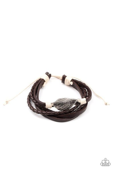 Paparazzi Bracelet PREORDER ~ FROND and Center - Brown