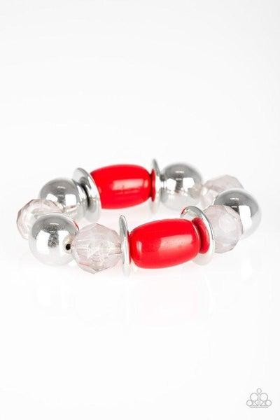 Paparazzi Bracelet - BAY After BAY - Red