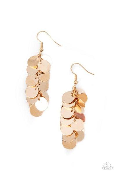 Paparazzi Earring ~ Hear Me Shimmer - Gold