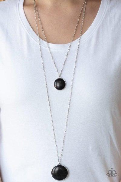 Paparazzi Necklace ~ Desert Medallions - Black