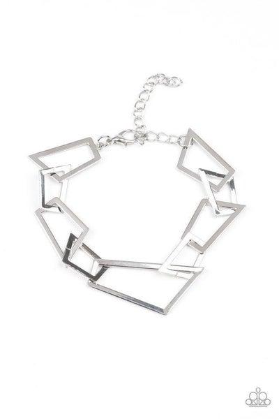 Paparazzi Bracelet ~ Shattered Shine - Silver