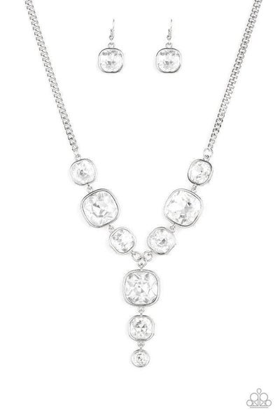 Paparazzi Necklace ~ Legendary Luster - White