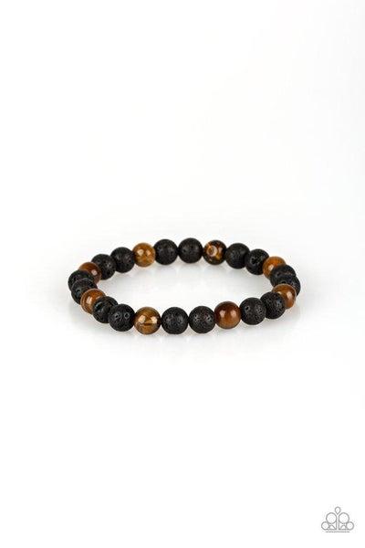 Paparazzi Bracelet ~ Top Ten Zen - Brown