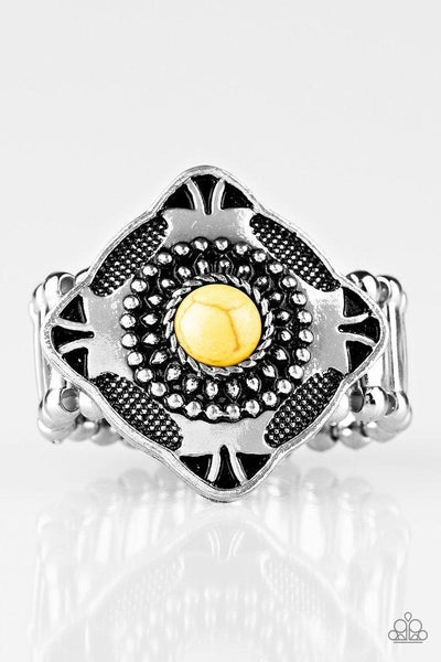 Paparazzi Ring ~ Four Corners Fashion - Yellow