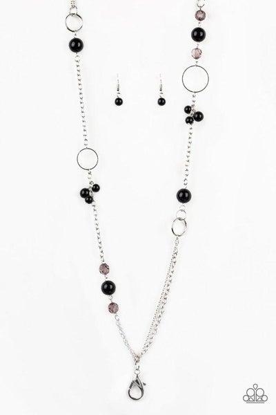 Paparazzi Necklace Lanyard ~ Pageant Princess - Black