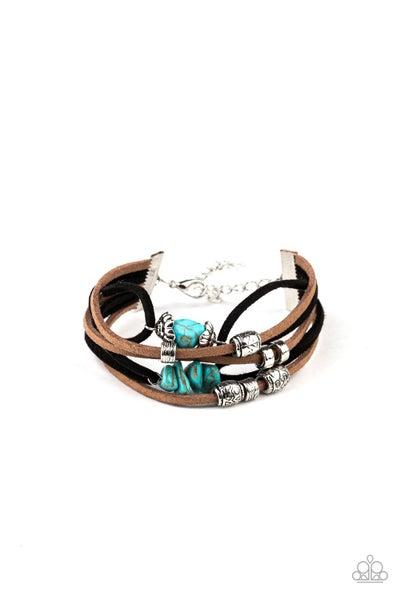 Paparazzi Bracelet ~ Rocky Mountain Rebel - Blue
