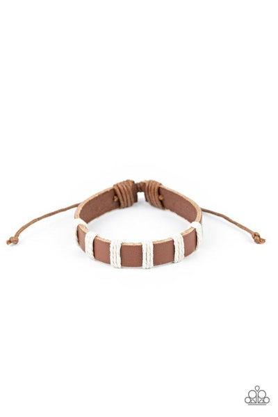 Paparazzi Bracelet ~ Put Up A Brave FRONTIER - Brown