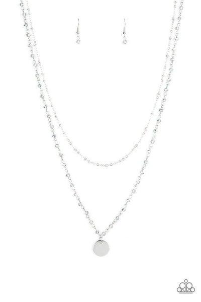 Paparazzi Necklace ~ Dainty Demure - Silver