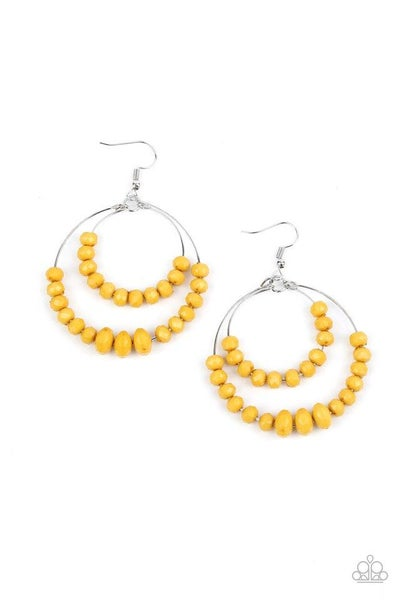 Paparazzi Earring ~ Paradise Party - Yellow