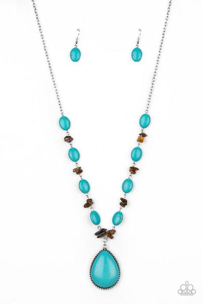 Paparazzi Necklace ~ Desert Diva - Blue