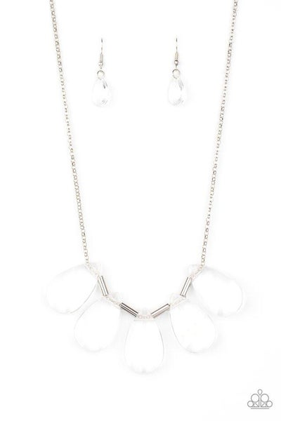 Paparazzi Necklace ~ HEIR It Out - White