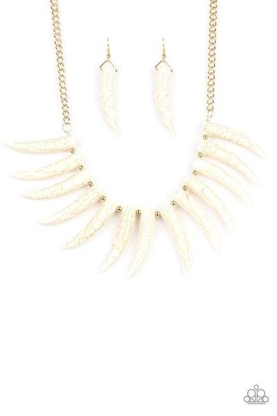 Paparazzi Necklace ~ Tusk Tundra - White