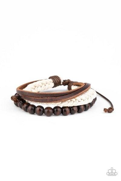 Paparazzi Bracelet ~ Wildly Wrangler - Brown