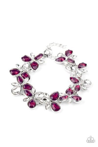 Paparazzi Bracelet ~ Ice Garden - Purple