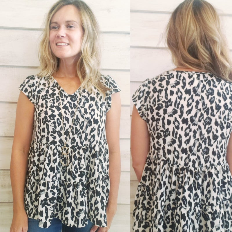 Black and White Print Top *Final Sale*
