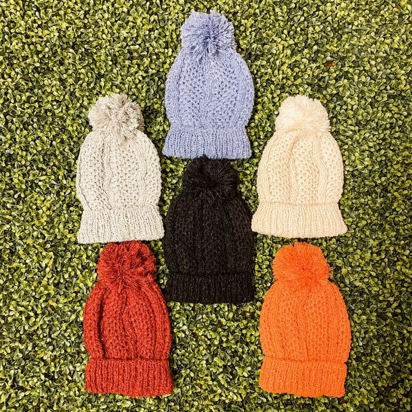 Soft Knit Beanie with Pom *Final Sale*