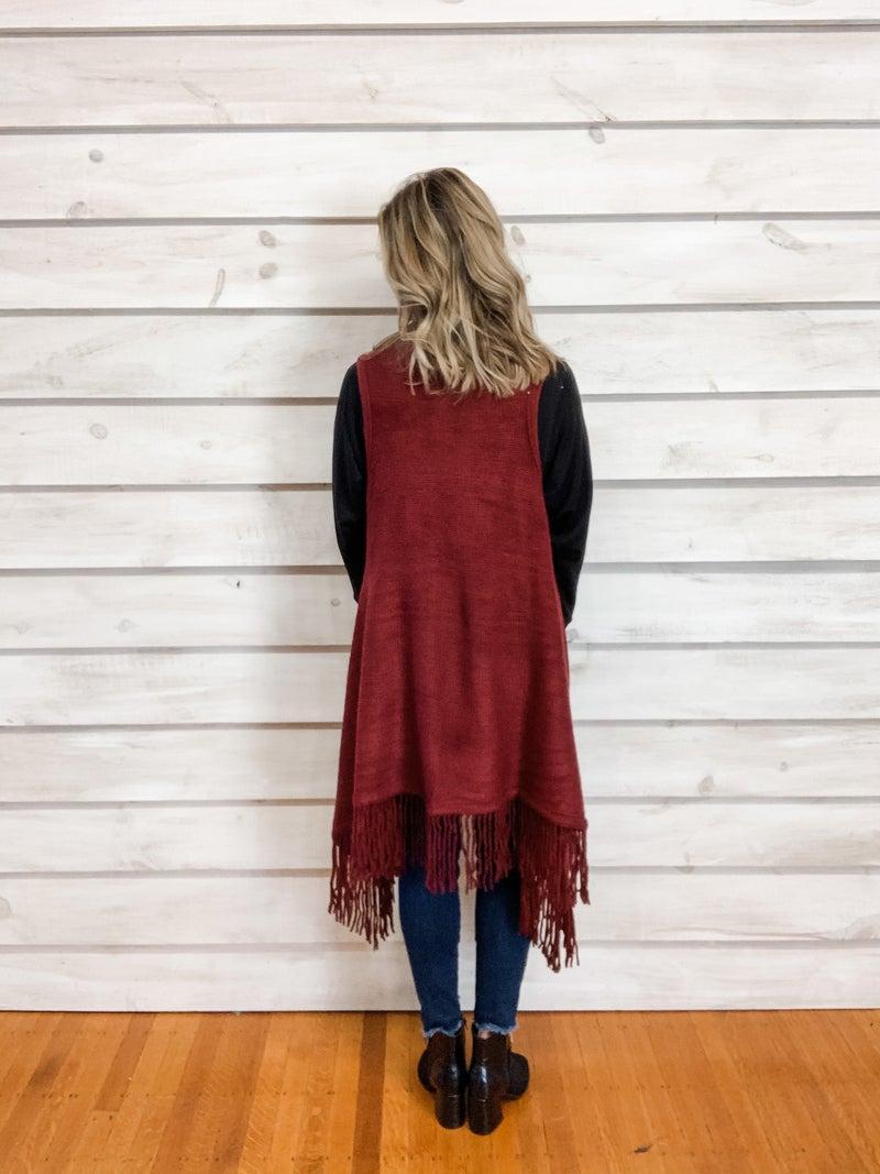 Fringe Kimono Vest