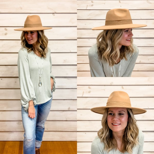 Camel Stiff Brim Hat *Final Sale*