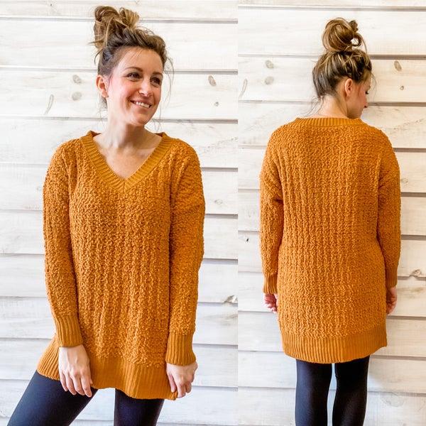 Sweet Caramel Popcorn Tunic Sweater *Final Sale*