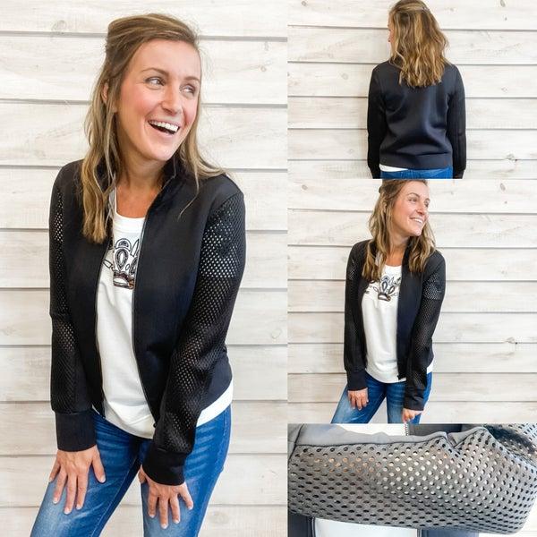 Black Zip Up Jacket *Final Sale*