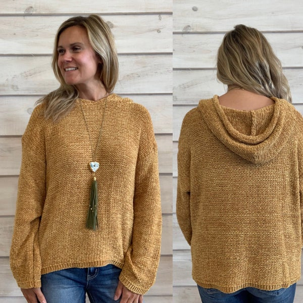 Mustard Super Soft Hooded Sweater *Final Sale*