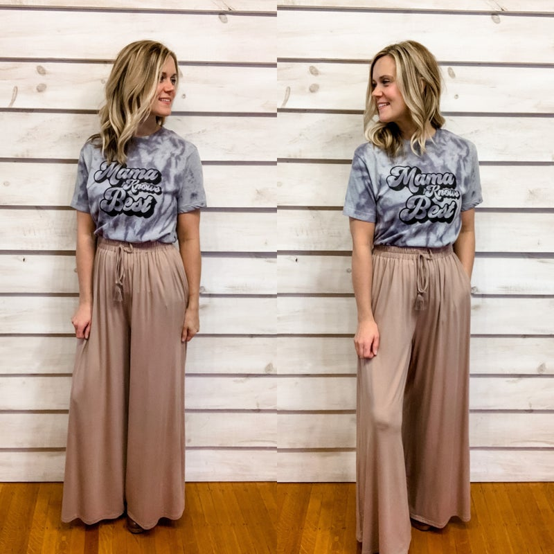 Taupe Wide Leg Pants