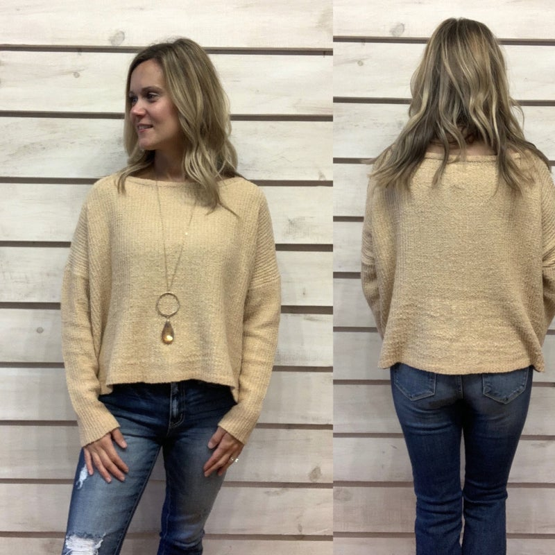 Gold Cropped Sweater *Final Sale*