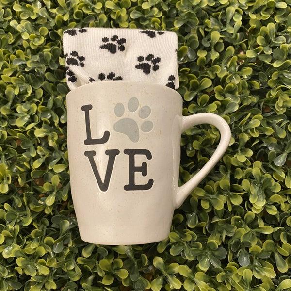 Paw Print Love Mug and Sock Set *Final Sale*