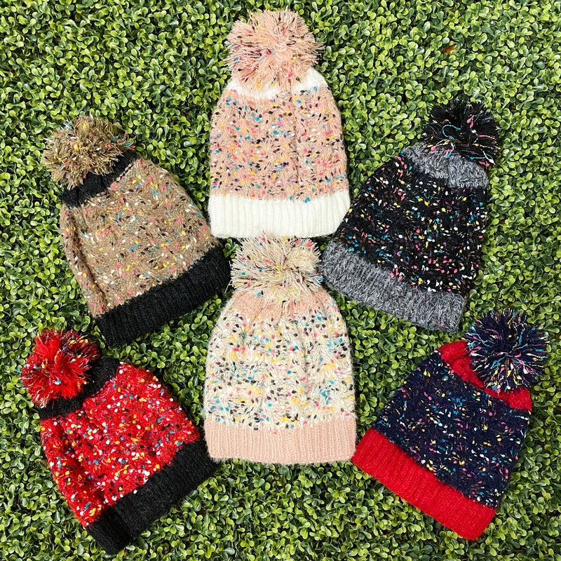 Speckled Pom Beanie *Final Sale*