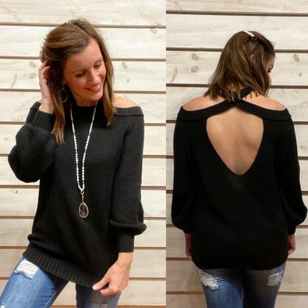 Black Strappy Sweater