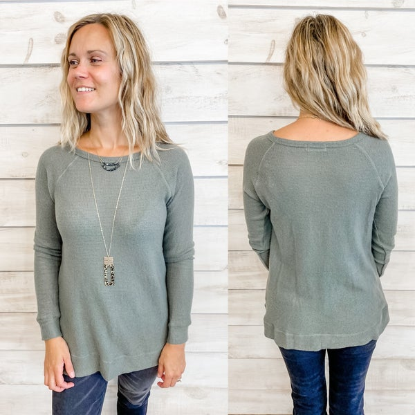 Olive Soft Thermal Top *Final Sale*
