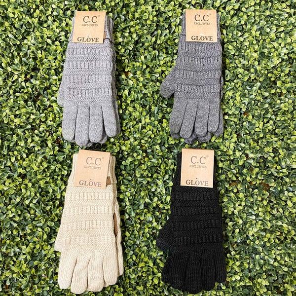Knit Touchscreen Gloves *Final Sale*