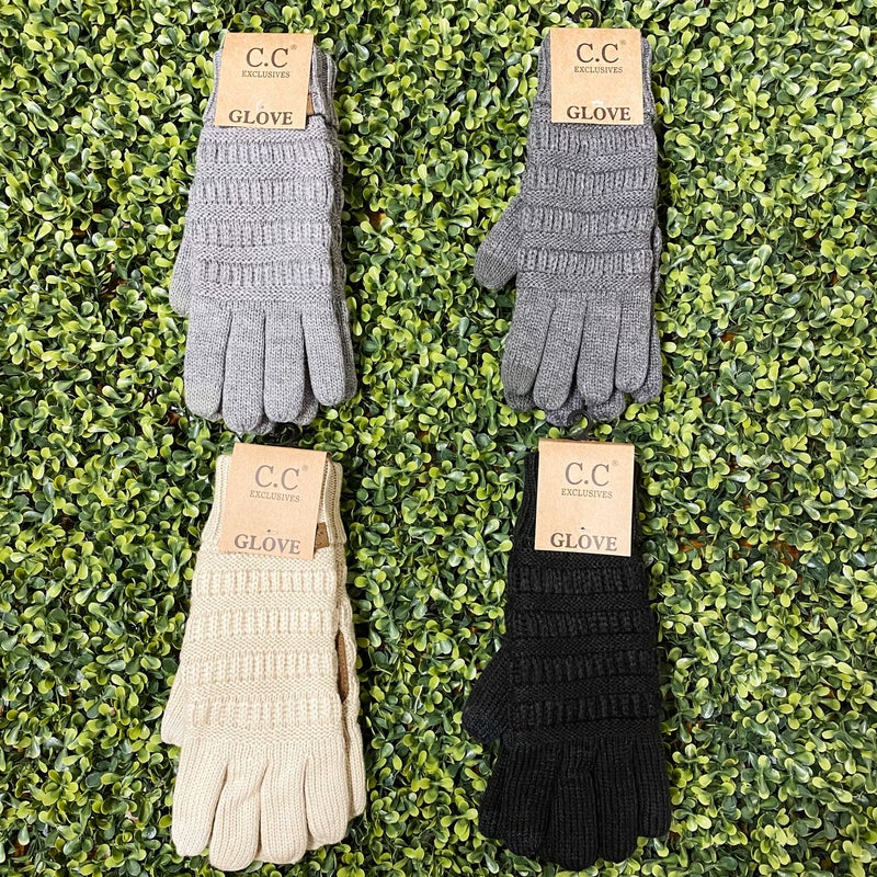 Knit Touchscreen Gloves *Final Sale*