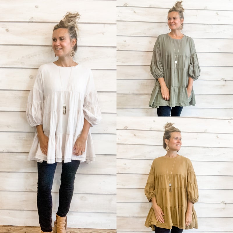 Boho Tiered Tunic Top