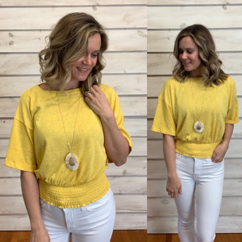 Yellow Smocked Top