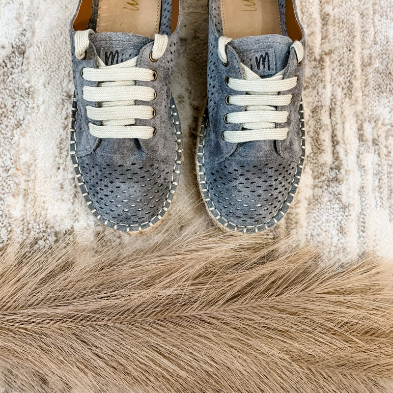 Slate Espadrille Laser Cut Sneakers